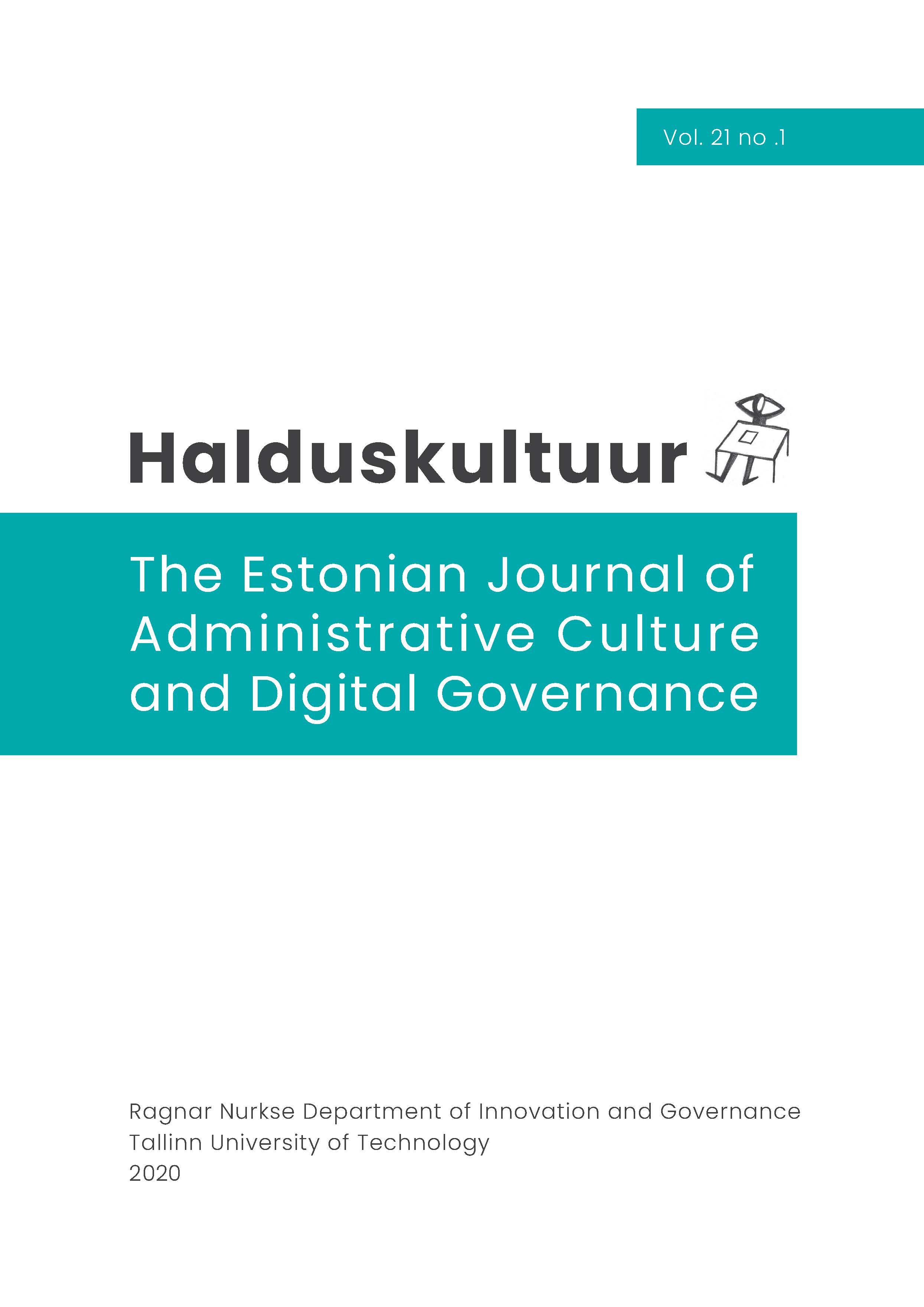 Halduskultuur 21(1) - Cover page